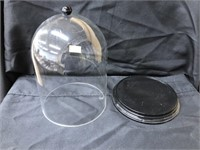(2) Glass Domes
