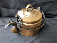 Primitive 19th Century Copper Gooseneck Teapot