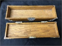 Primitive Oak Hinged Top Box