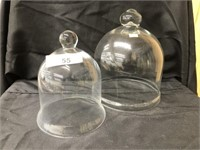 (2) Early Glass Domes