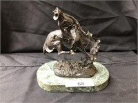 Contemporary Remington Bronze Figurine