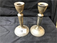 Sterling Weighted Candlestick Holders