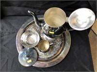 Art Glass Canister & Tea Service