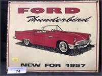 Contemporary Tin Ford Thunderbird Sign