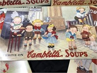 (7) Contemporary Tin Campbell Soup Signs