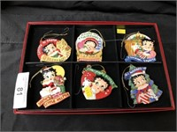 (6) Danbury Mint Betty Boop Ornaments
