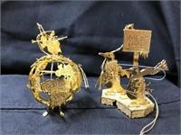 Set of 12 Danbury Mint Christmas Ornaments