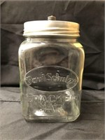 Vintage Glass Countertop Canister