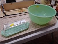 Jadeite Fire King Butter Dish