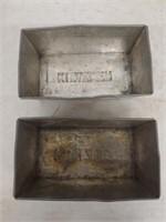 (2) Kunzler Advertising Scrapple Pans