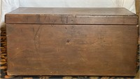 Early Pine Shipping Box with Metal Handles