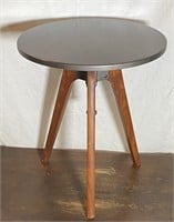 Wood and Metal Adjustable Industrial Side Table