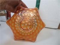 Antique Fenton Stippled Coin Dot Marigold Carnival