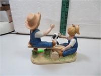 "Denim Days Boy & Girl on Teeter Totter 6""x5&3/4"""