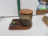 Vintage Tobacco Humidor & Pipe Rest