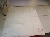 """Vintage Tablecloth for Card Table 34"""" x 34"""""""