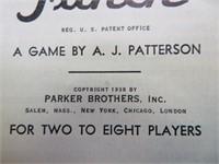 Copyright 1938 Parker Bros Flinch Game