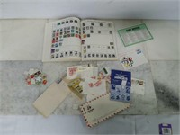 Majestic World Stamp Album w/ Assorted Stamps