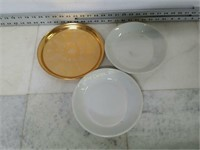 Qty (3) Assorted Serving Platters