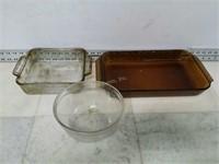 Qty (3) Anchor Glassware