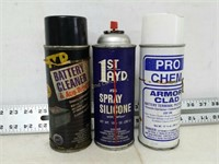 Qty (3) Assorted Spray Chemicals