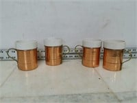 Qty (4) Brass Mugs
