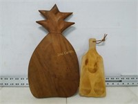 Qty (2) Wooden Cutting Boards
