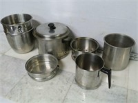Qty (6) Assorted Stainless Steel Cookwares