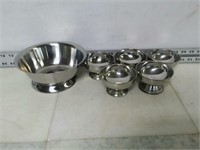 Qty (6) Stainless Steel Serving Bowls