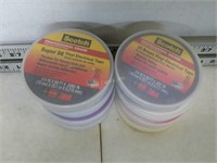 Qty (8) Assorted Color Scotch Electrical Tape