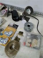 Assorted Household Hardware - Lights - Handles ect