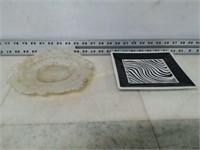 Qty (2) Ceramic Platters