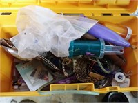 Tool Box w/ Assorted Craft/Jewelry Tools and Acc.