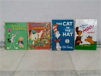 Qty (4) Dr Suess and Little Golden Books