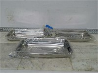 Qty (3) Stainless Steel Toaster Oven Pan