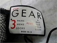 Ellis Gear 3 Pairs Men's Socks, Size 10-13