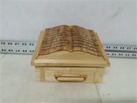 Handmade Wooden Bible Storage Box