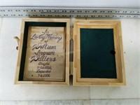 """Handmade Wooden Bible Box  (8"""" W x 6"""" D x 3.5"""" T)"""