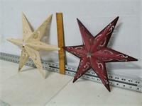 Qty (2) Decorative Metal Stars