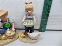 """2 Denim Days Figurines (tallest = 5"""")"""