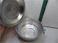 "Aluminum Bowl with Lid 8&1/4"" x 4"""