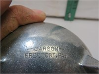 Vintage Carson Freeport PA Pewter Kettle with Lid