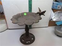 """Cast Iron Hummingbird Bird Bath 11"""" x 8&3/4"""""""