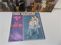 3 Vintage Beatles 45 RPM Records