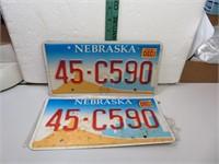 Nebraska License Plate Set 45-C590