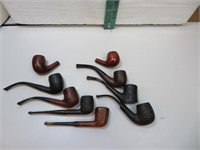 7 Vintage Pipes and 2 Bowls