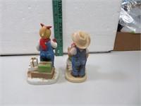 """2 Denim Days Figurines Tallest = 5&3/4"""""""