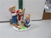 "Denim Days Holiday Time Snowman 5&1/2"" x 5"""