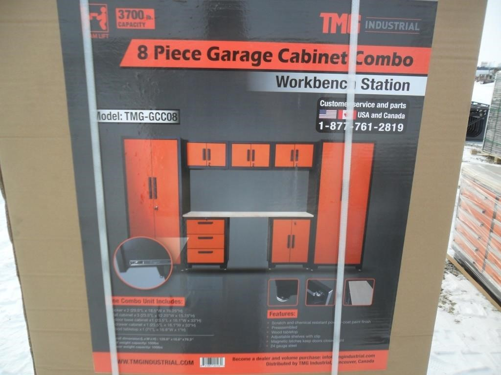 8-Piece Pre-Assembled Garage Cabinet Combo