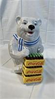 Polar Bear Delivery Ceramic Cookie Jar